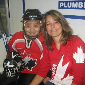 Karen Youth experience hockey through PuCKS