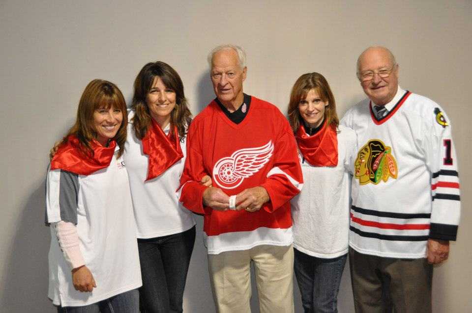 Connie Klimek, Margaret Kunst, Gordie Howe, Pauline Yoshizawa and Glenn Hall 2