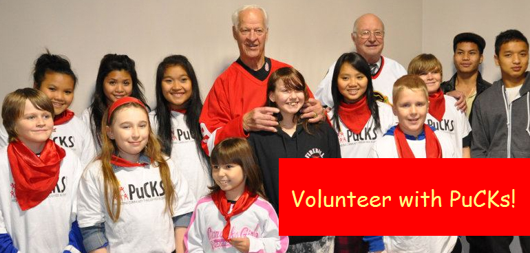Volunteer with the PuCKs Program Participation